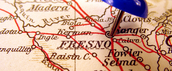 Map of Fresno